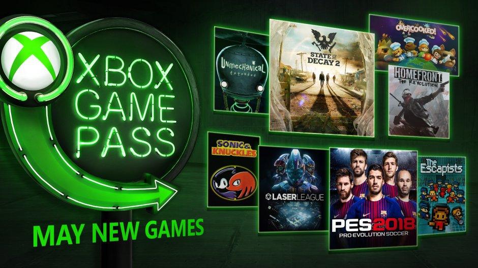 Xbox Game Pass - květen 2018
