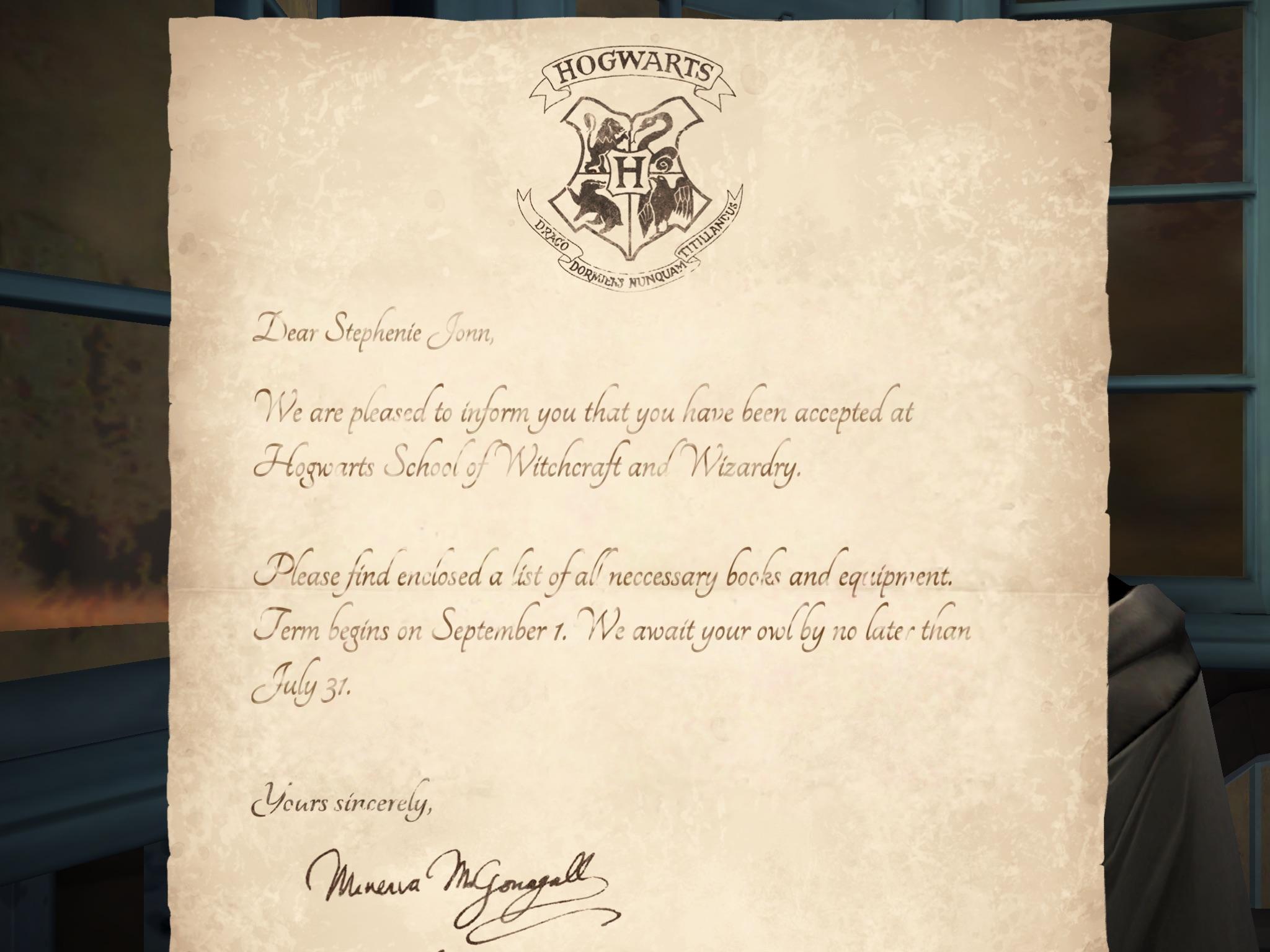 Harry Potter: Hogwarts Mystery recenze dopis od sovy