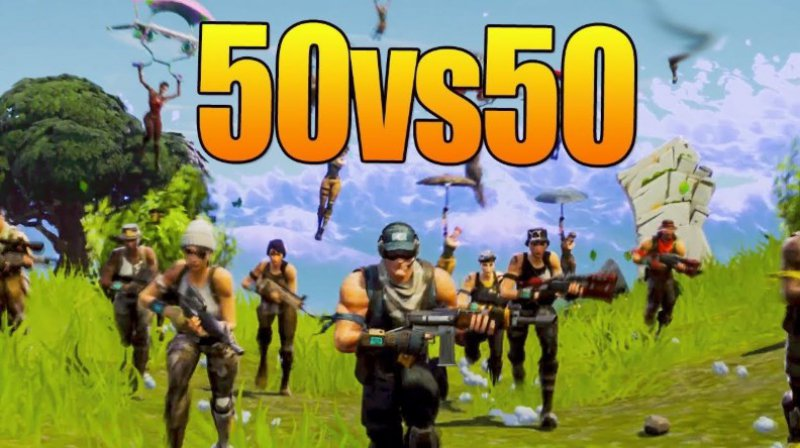 50vs50 mód ve Fortnite