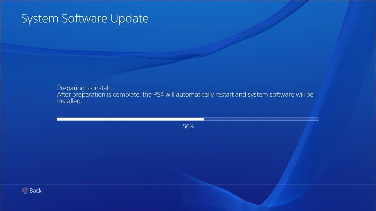 PS4 aktualizace softwaru 5.55