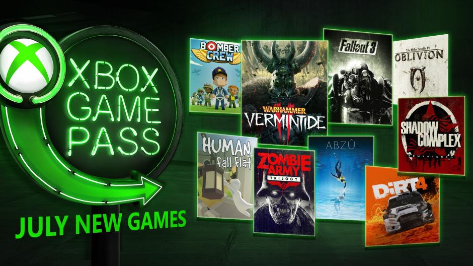 Xbox Game Pass - červenec 2018