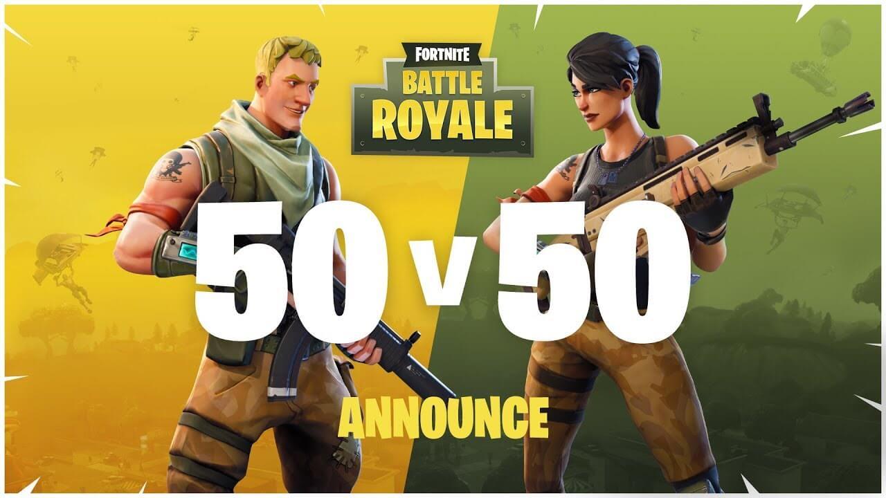 50vs50 mód ve Fortnite se vrací zpět