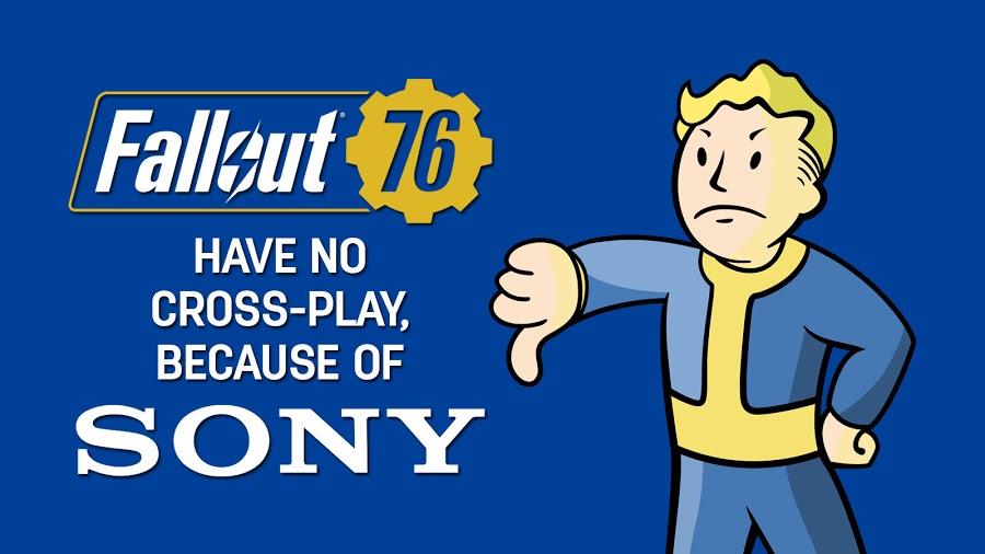 SONY odmítá cross-platform hraní ve Fallout 76