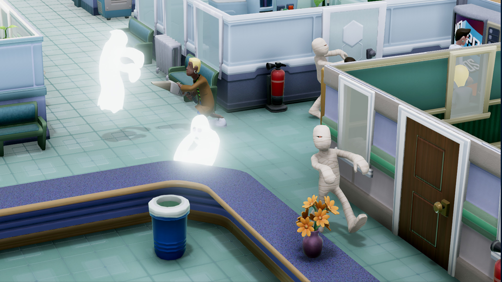 Two Point Hospital invaze duchů