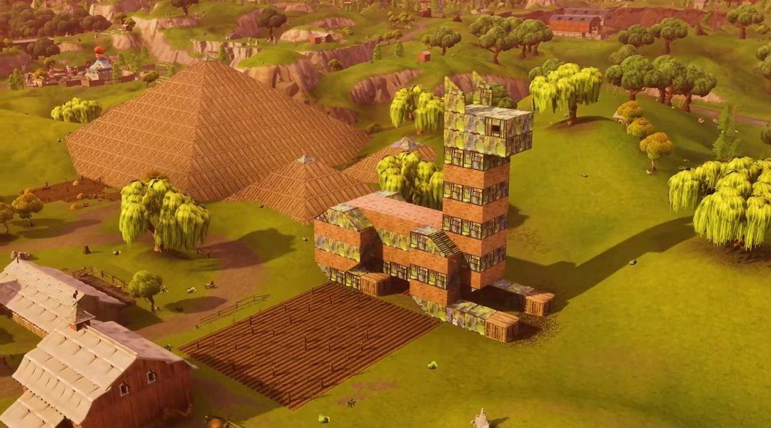 Stavby v Playground módu ve Fortnite
