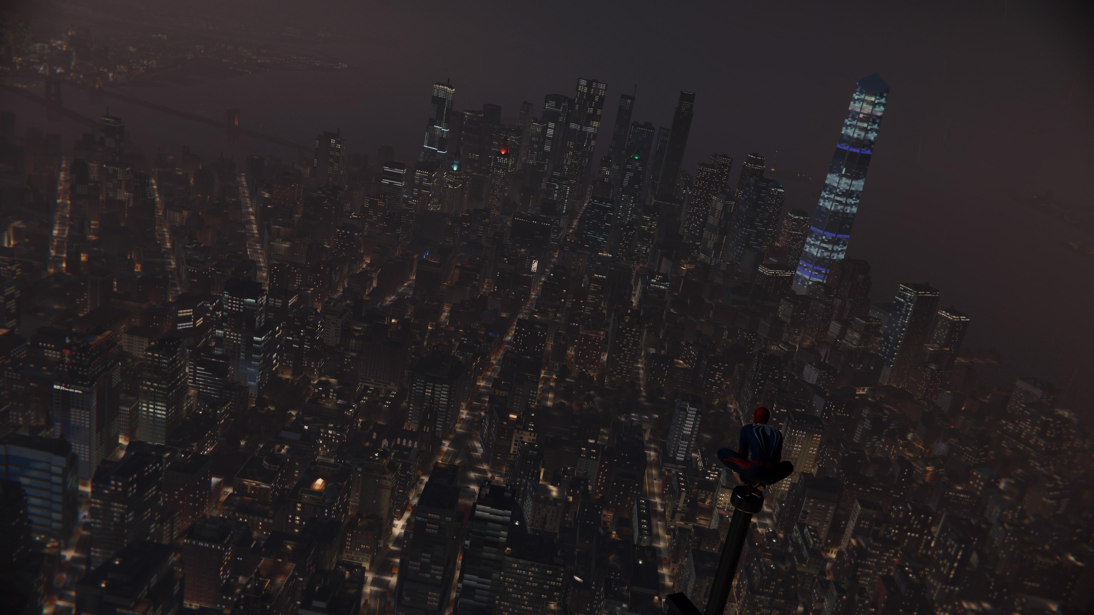 Pohled na město Spiderman