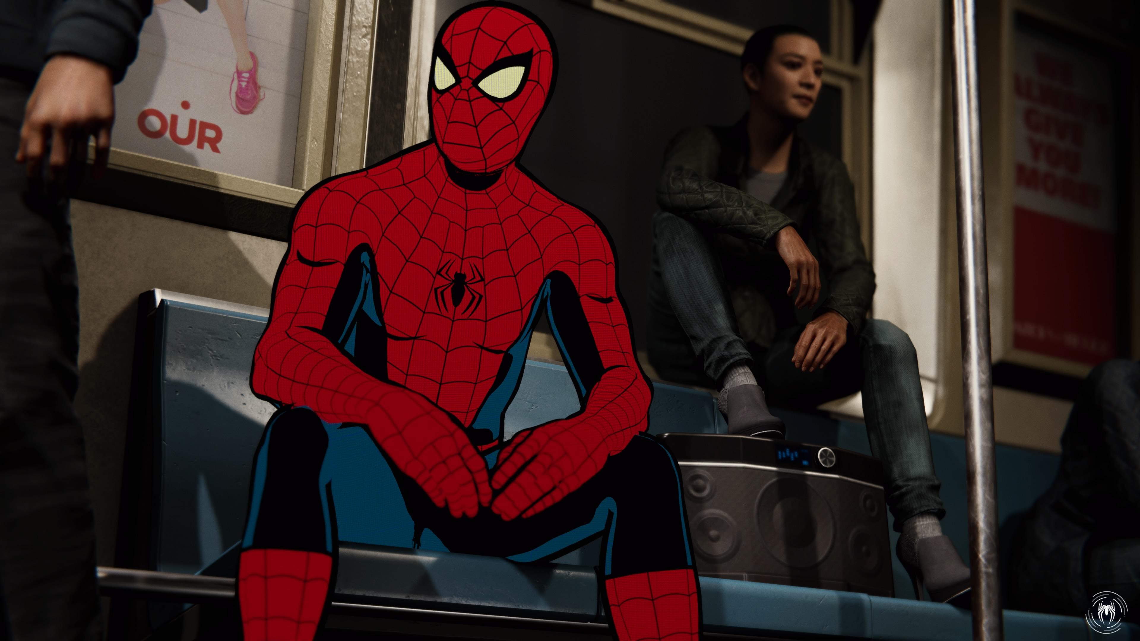 Komiksový Spider Man ve fotoreslistické podobě