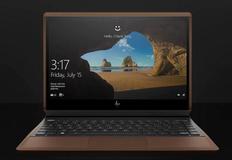 HP notebook z kůže