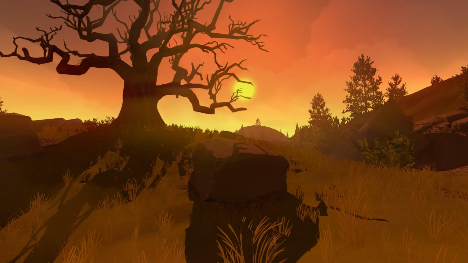 Západ Slunce ve Firewatch recenze