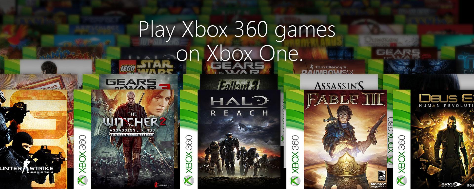 Zpětná kompatibilita X360 her na Xbox One