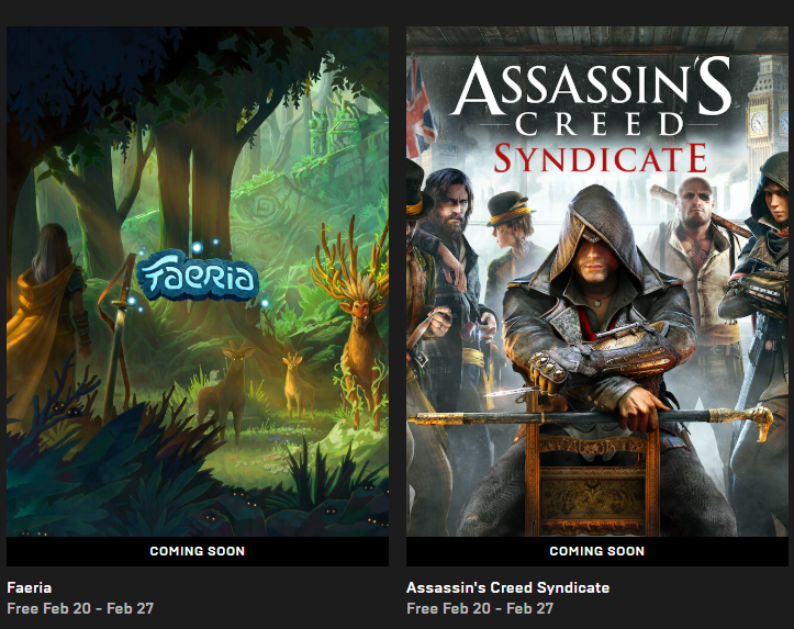 Assassin´s Creed: Syndicate, Faeria - Epic Games