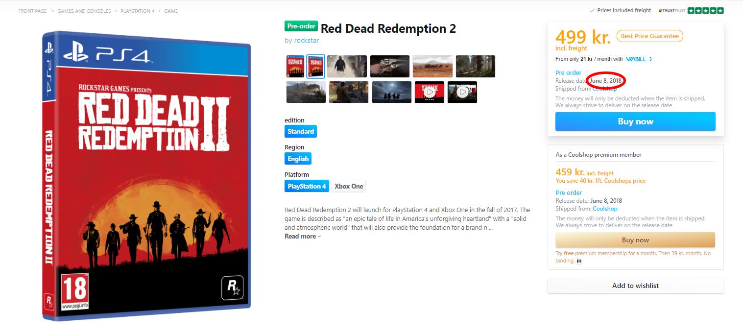 Red Dead Redemption 2 - uniklé datum vydání