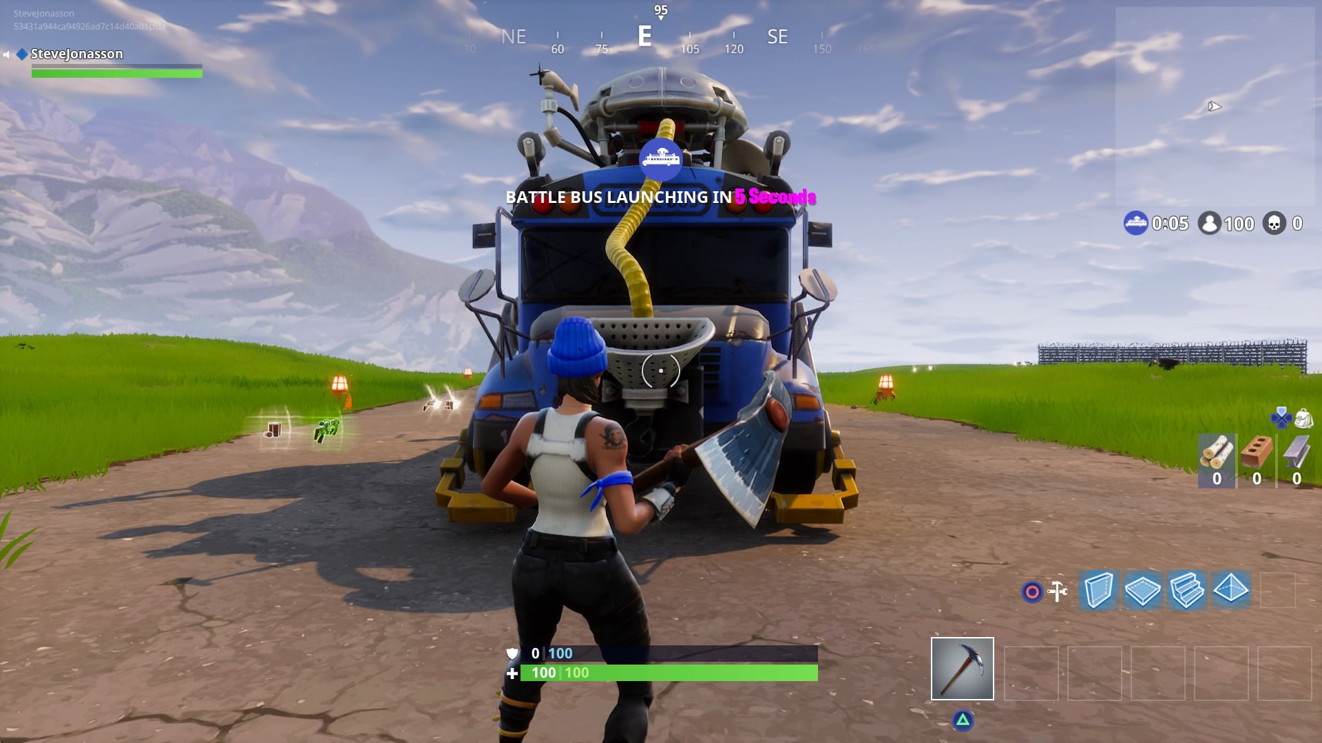 Party bus in Fortnite