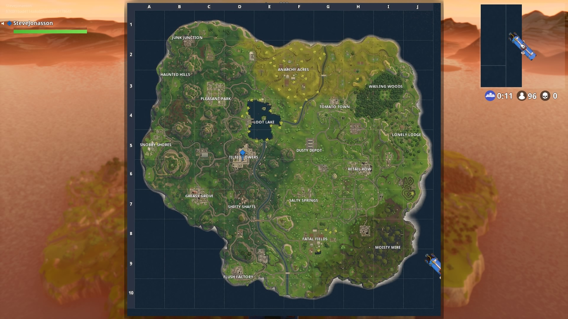Fortnite entire map