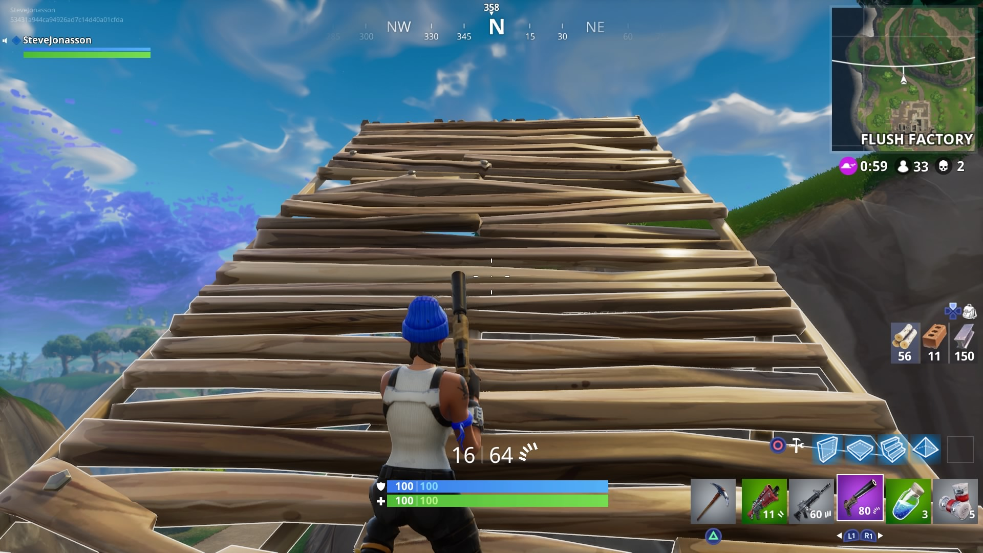 Building stairs in Fortnite