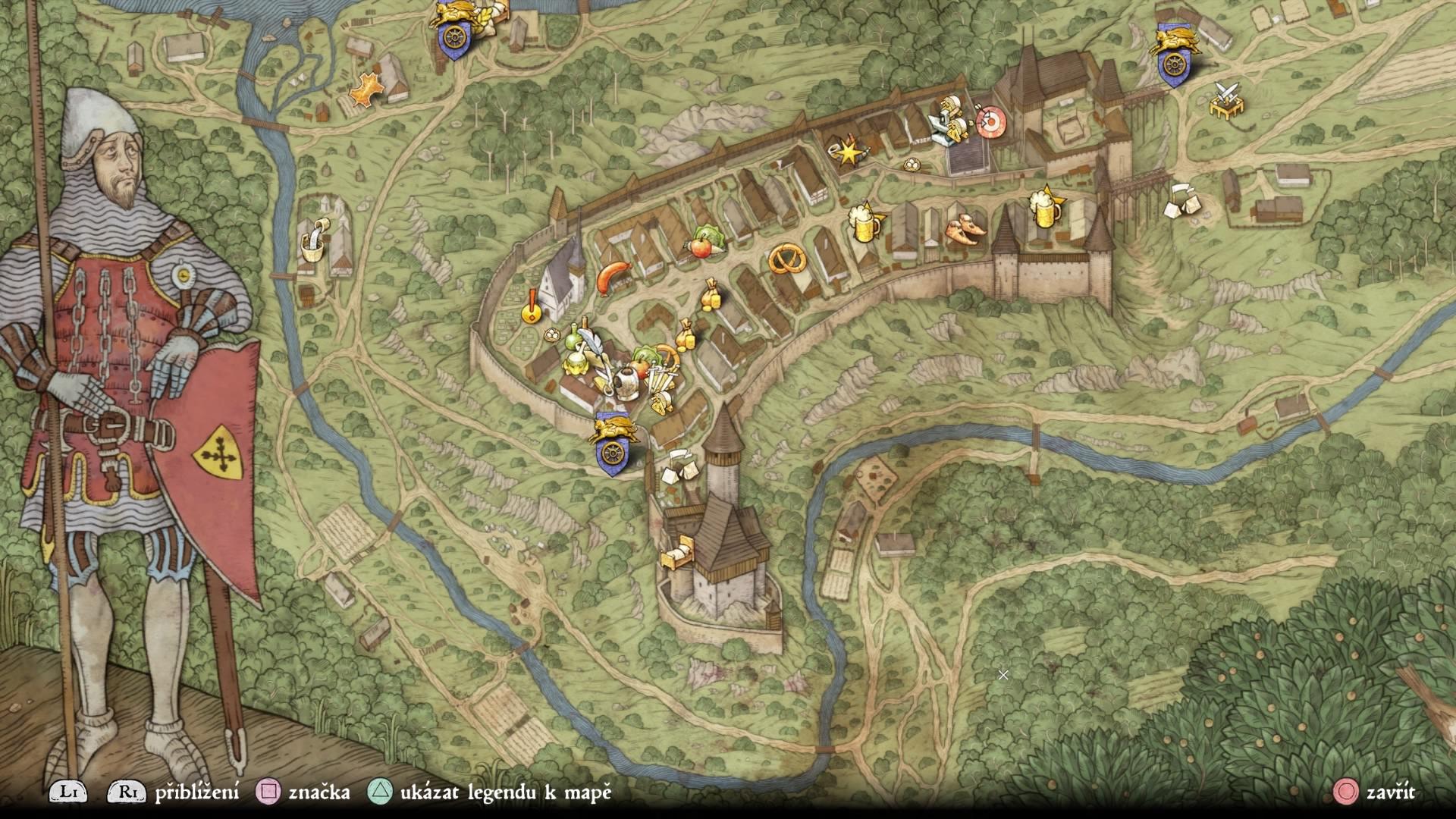 Kingdom Come: Deliverance - mapa
