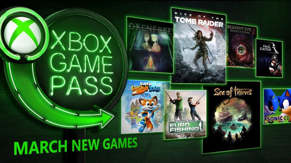Xbox Game Pass - březen 2018