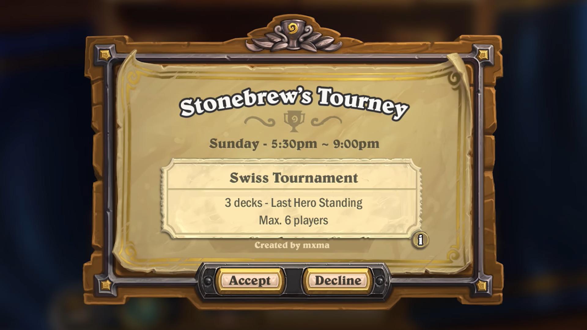 Hearthstone - vlastní turnaje