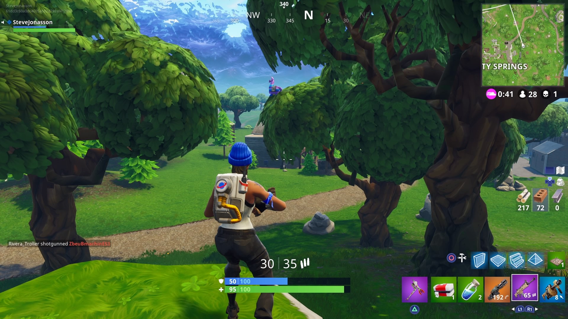 Llama loot box on the tree