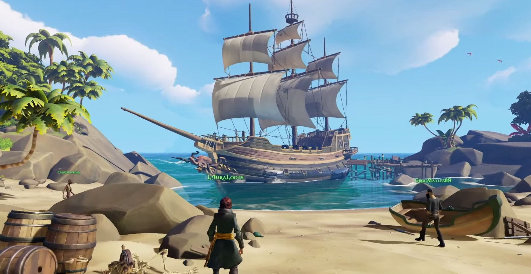 Sea of Thieves první aktualizace klienta