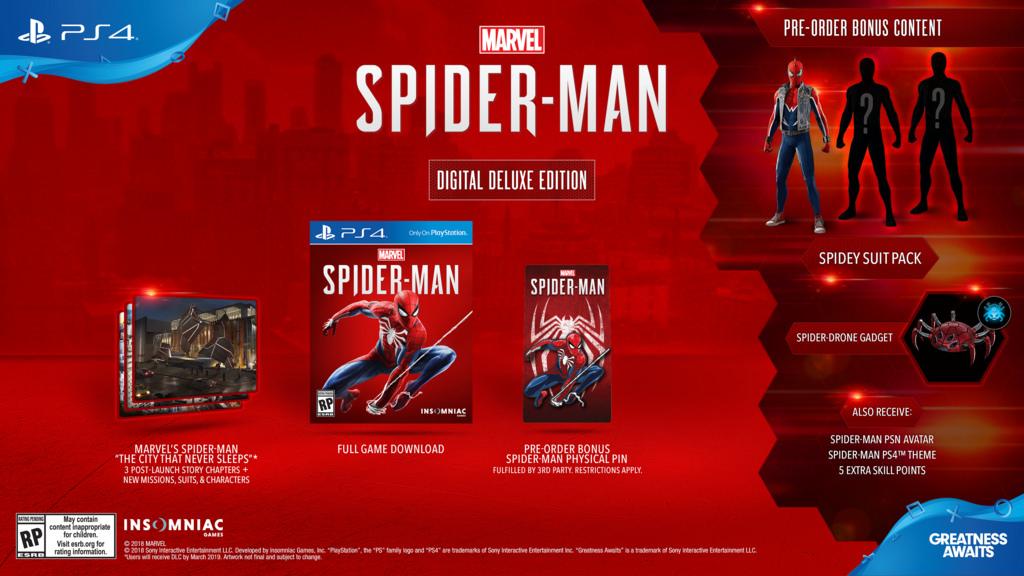 digital deluxe edition spiderman
